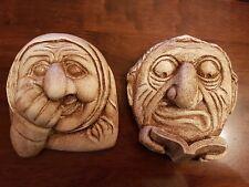 2 gótico GARGOYLE caras Goma Látex Moldes Moldes Pared Placas Yeso Hormigón