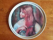 """Limoges Renoir Collector'S Plates """"Jeune Fille Se Peignant """" France"""