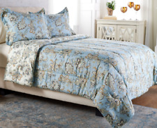 Anniversary 3pc Queen Jacobean Reversible Comforter Set by Valerie Blue H214081