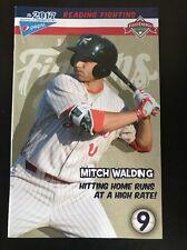 Reading Fightin Phils SGA Program #9 Featuring Phillies Prospect Mitch Walding
