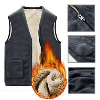 Mens Soft Polar Fleece Sleeveless Vest Jacket Casual Warm Winter Coat w/ Pockets