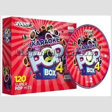 Karaoke CDG Discs Zoom Pop Party Box Sets Vols 1-4 - 480 Tracks on 24 CD+G Discs