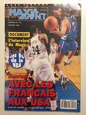 MAXI BASKET N°114 JANVIER 1993 REPORTAGE AVEC LES FRANCAIS AUX USA