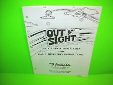 Out Of Sight Gottlieb Original Arcade Pinball Machine Service Instruction Manual