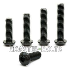 1/4-28 Button Head Socket Caps Screws Alloy Steel w Thermal Black Oxide SAE Fine