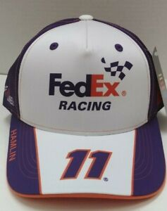 Denny Hamlin 2021 FedEx Racing Sublimated Uniform Sponsor Hat # 11 - Free Ship