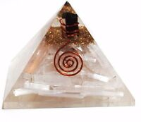 Extra Large 70-75MM Selenite  Orgorne Natural Gemstone Pyramid Organit