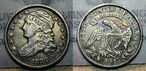 1834 Capped Bust Dime 10c Large 4