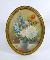 Blumenbild um 1900 Aquarell