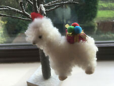 Llama Christmas Tree Decoration with Santa Hat & Presents - Cute & Very Fluffy