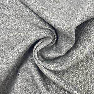 Woven Soft Grey Upholstery Fabric Material 140cm wide NEXT 283A