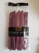 Plastic Cutlery Quality Knives Tableware Pack of 24 Amscan Berry Red