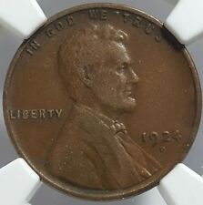 1924-D United States Lincoln Wheat Cent Penny - Graded NGC VF Details