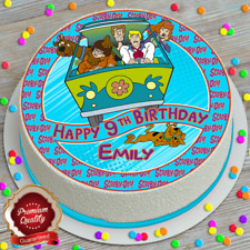 SCOOBY DOO PERSONALISED PRECUT EDIBLE ICING SHEET 7.5 INCH CAKE TOPPER 724