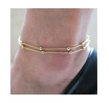 Women Anklet Foot Jewelry Chain Beach Double Ball Chain Fashion Ankle Bracelet