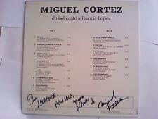 MIGUEL CORTEZ Du bel canto a Francis Lopez / Treize titres. dédicacé et signé