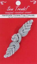 Frogs Button Closures-Metallic Silver-Pineapple Design - 1 Pair/pk. - #FG4759