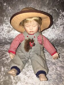 Ashton Drake Porcelain Doll Asleep In The Cradle Caught Napping Vintage Retro