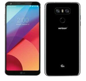 LG G6 LG-VS988 32GB Black Verizon Unlocked GSM Android 4G LTE Smartphone GREAT