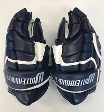 """New RYR Ice Hockey Player Gloves """"Winterhawks"""" Navy White senior 13"""" sr size"""