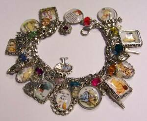 Classic Winnie the Pooh Charm Bracelet Hand Crafted