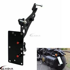 Side Mount License Plate Bracket w/LED Light For Harley Iron883 Sportster XL1200