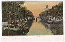 Singel Canal Amsterdam Netherlands 1905c postcard
