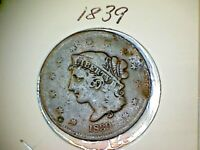 1839 Matron or Liberty Head Large Cents