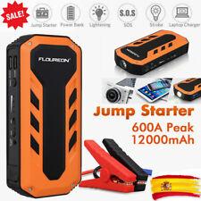 12000mAh Coche Arrancador Emergencia Batería Cargador Booster 2*USB Power Bank