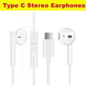 Type C Earphones Stereo Headphones For Huawei P40 P30 P20 Pro Handfrees