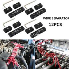 12pcs Engine Spark Plug Wire Separator Divider Organizer Clamp Aluminum