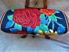 "Woman's hard eyeglass case/handmade/""Garden Roses""/health & beauty/vision aid"