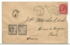 > FRANCE RARE one of five reported Maple Leaf FOREIGN Postage due cover Canada