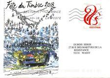 timbre bicentenaire caisse d'épargne oblitérés sur lettre fête du timbre 2018.