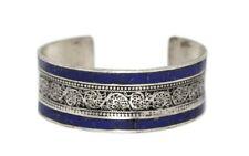 Lapis Bracelet Lapis cuff Bracelet Silver Bracelet Tribal Gypsy Bobo Bracelet