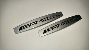Mercedes AMG Edition Emblem Badge Left and Right Side Sticker Metal 2 pcs SET