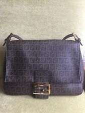 Zucca Fendi Print Handbag with Gold Chain Satchel