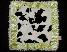 New Mud Pie Lovey Cow Print Blankie Mudpie Baby Green Border Blanket Plush Toy