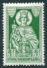 Hungría 1930 8f+2f Verde SG518 como nuevo MH FG St. Emeric #W9 aniversario de la muerte