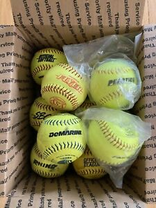 lot of 10 softballs 11 inch Softballs DeMarini, Diamond, Wilson FREE  SHIPPING