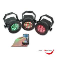 LED Lichtorgel 3er-Set RGB PAR Scheinwerfer mit IR Fernbedienung, bunt, Party