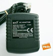 BT AC Adaptador de corriente ba090025b 9v 250ma ENCHUFE REINO UNIDO