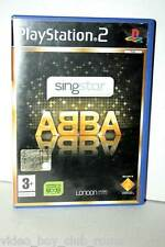 SINGSTAR ABBA GIOCO USATO BUONO STATO SONY PS2 EDIZIONE ITALIANA PAL GB2