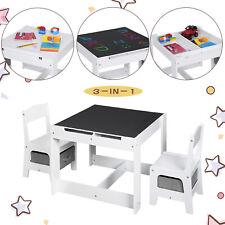 Kindersitzgruppe Kindermöbel Kinderzimmer mit multifunktionalem Tisch 2 Stühlen
