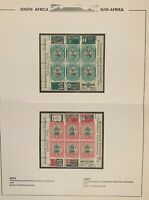 1936 RSA -2 x Official JIPEX Mini Sheets 1d. & 1/2d. on Album Page - Mint Hinged