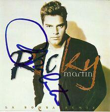 Ricky Martin signed La Bomba Remix cd single