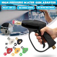 Hochdruck Wasser Pistole Trigger + 5x Düse M22  Für Kärcher