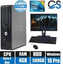 WIN10 Ordinateur Dell Bureau PC Intel Core 2 Duo 3.00GHz 19'' TFT 4GB RAM 500GB
