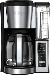 Ninja CE251 Programmable Brewer, with 12-cup Glass Carafe, Black and Stainless