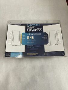 LUTRON Maestro Duo 600w 3-Way Digital Dimmer Set MAW-603-RH-WH White Bee Sealed